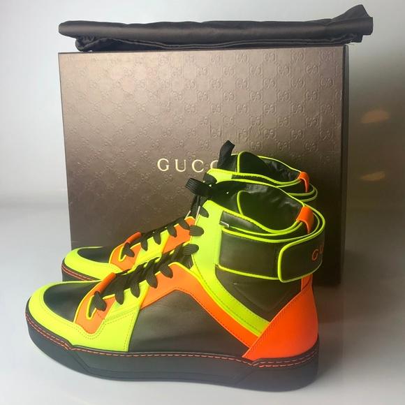59c57a5cc Gucci Shoes | High Top Sneakers Fluo Mat Men Sneaker G105 | Poshmark